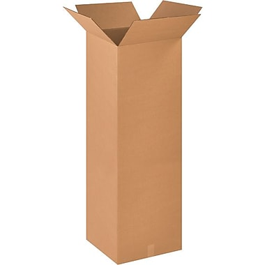 18''x18''x48'' Standard Corrugated Shipping Box, 200#/ECT, 10/Bundle (181848)