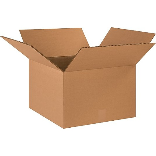"""18"""" x 18"""" x 12"""" Shipping Boxes, 48 ECT Double Wall, Brown, 15/Bundle (BS181812HDDW)"""