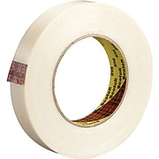 """3M 898 Strapping Tape, 6.6 Mil, 3/4"""" x 60 yds., Clear, 6/Case (T9148986PK)"""