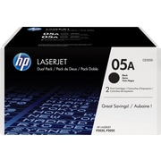 HP 05A (CE505D) Black Original LaserJet Toner Cartridges, 2/Pack