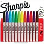 Sharpie® Fine Point Permanent Markers, Assorted, 12/pk (30072)