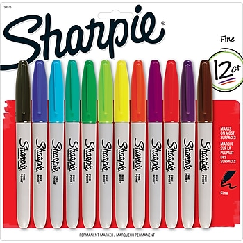 12-Pack Sharpie Fine Point Permanent Markers