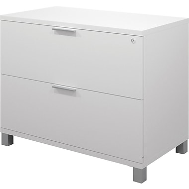 Bestar Pro-Linea Fully Assembled Lateral File, White