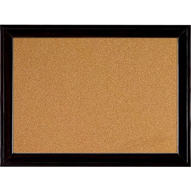 quartet 11 x 17 cork board with black frame staples. Black Bedroom Furniture Sets. Home Design Ideas