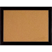 "Quartet® Home Decor Natural Cork Bulletin Board, 17"" x 23"", Ebony Frame"