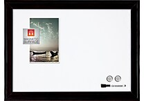 Quartet® Home decor Magnetic Dry-Erase Board, 17' x 23', Ebony Frame (79282)