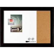 "Quartet® Home decor Magnetic Combination Board, 17"" x 23"", Dry-Erase & Cork, Ebony Frame (79283)"