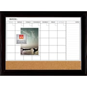 "Quartet® Home Decor Magnetic Combo Calendar Board, 23"" x 35"", Dry-Erase & Cork"