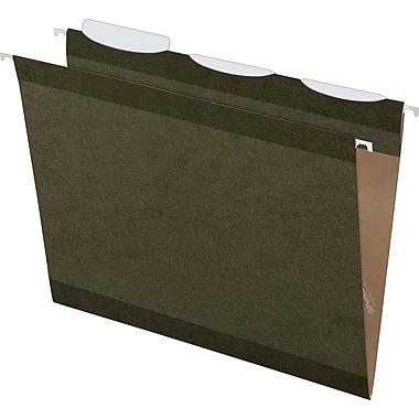 Pendaflex® Ready-Tab® Reinforced Hanging Folders, 3-Tab, Letter, Standard Green, 25/Box (42620)