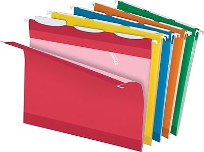 Pendaflex® Ready Tab® Hanging File Folders, Letter, 1/3-Cut, Assorted Colors