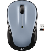 Logitech M325 Wireless Optical Mouse, Ambidextrous, Silver (910-00233)