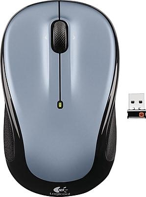 Logitech M325 Wireless Optical Mouse, Ambidextrous, Silver (910-00233)
