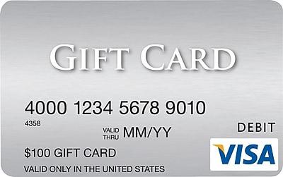 Visa 100 Gift Card Staples