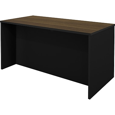 Bestar – Bureau de direction de la collection Pro Concept, fini chocolat au lait et noir