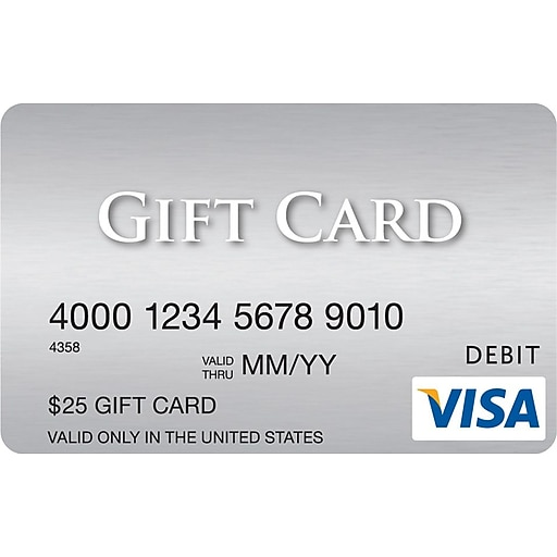 visa 25 gift card rollover image to zoom in httpswwwstaples 3pcoms7is - Buy Visa Gift Card With Credit Card