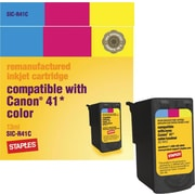 Staples® Reman Colour Ink Cartridge, Canon CL-41 (SIC-R41C)