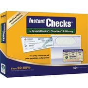 Instant Checks for QuickBooks, Quicken & Money - Form #1000 Business Voucher Security Checks - Green - Classic - 250pk