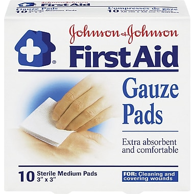 Johnson & Johnson - Tampons de gaze pour premiers secours