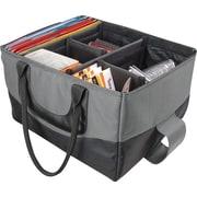 AutoExec® File Tote Grey with Black