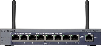 NETGEAR ProSAFE 8-Port Gigabit VPN Firewall (FVS318N)