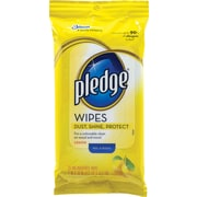 Pledge® Wipes, Lemon Scent, 24 Wipes/Pack