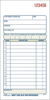 Adams Carbonless Sales Order Form Book  X   Part