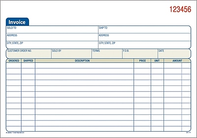 Adams Carbonless Invoice Forms  X   Part  Staples