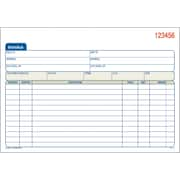 Adams Carbonless Invoice Forms, 5 9/16 inch x 8 7/16 inch , 3 Part by