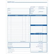 "Adams® Carbonless Job Invoice Forms, 8-1/2"" x 11"", 3 Part"