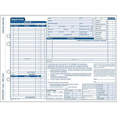 "Adams® Garage Repair Form, 11-7/16"" X 8-1/2"", 3 Part 