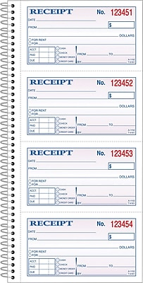 Adams® Carbonless Receipt Book, 5