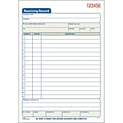 "Adams® Receiving Record Book, Ruled, 2-Part, White/Canary, 8 7/16"" x 5 9/16"", 1/Ea"