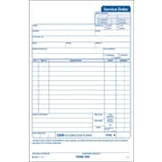 "Adams® Carbonless Service Order Forms, 5-2/3"" x 9"", 3 Part"