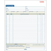 Adams Carbonless Purchase Order Books, 8 3/8 inch x 10 11/16 inch , 2 Part, 5/Pack (DC8131V) by