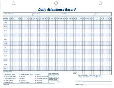 Adams® Daily Attendance Records, 11