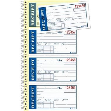 Adams® Write & Stick® Receipt Book, 5-1/4