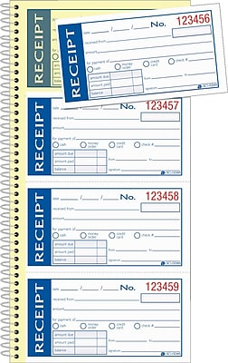 Adams® Write & Stick® Receipt Book, 5-1/4