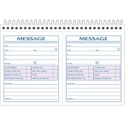 "Adams® Telephone Message Book w/Phone Number Dividers, 5-1/4"" X 8-1/2"", 200/Messages"