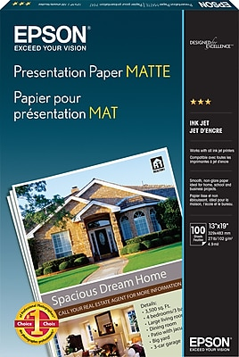 Epson® Photo-Quality Matte Inkjet Paper, 14.9 mil, 13