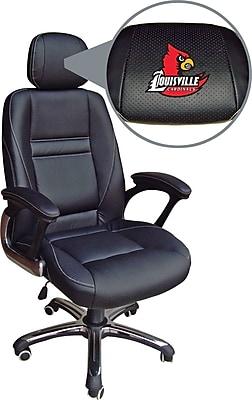 Wild Sports NCAA Leather Executive Chair, Lousiville Cardinals