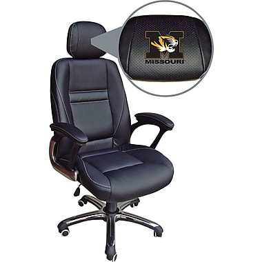 Wild Sports NCAA Leather Executive Chair, Missouri Tigers