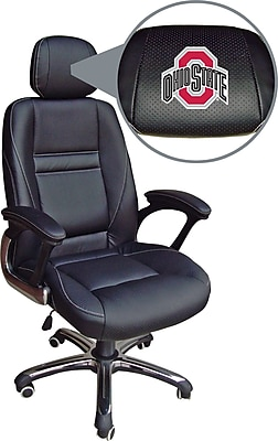 ... Chair Ohio State Buckeyes. //.staples-3p.com/s7/is/  sc 1 st  Staples & Wild Sports NCAA Leather Executive Chair Ohio State Buckeyes | Staples