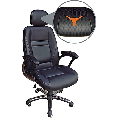 Wild Sports NCAA Leather Executive Chair, Texas Longhorns