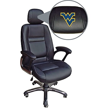 Wild Sports NCAA Leather Executive Chair, West Virginia Mountaineers