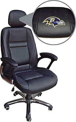 Wild Sports NFL Leather Executive Chair, Baltimore Ravens