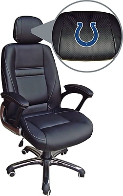 Wild Sports NFL Leather Executive Chair, Indianapolis Colts