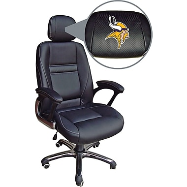 Wild Sports NFL Leather Executive Chair, Minnesota Vikings