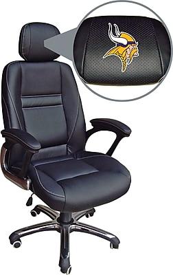 Wild Sports NFL Leather Executive Chair, Minnesota Vikings