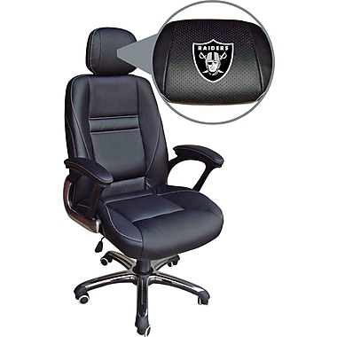 Wild Sports NFL Leather Executive Chair, Oakland Raiders