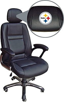 Wild Sports NFL Leather Executive Chair, Pittsburgh Steelers